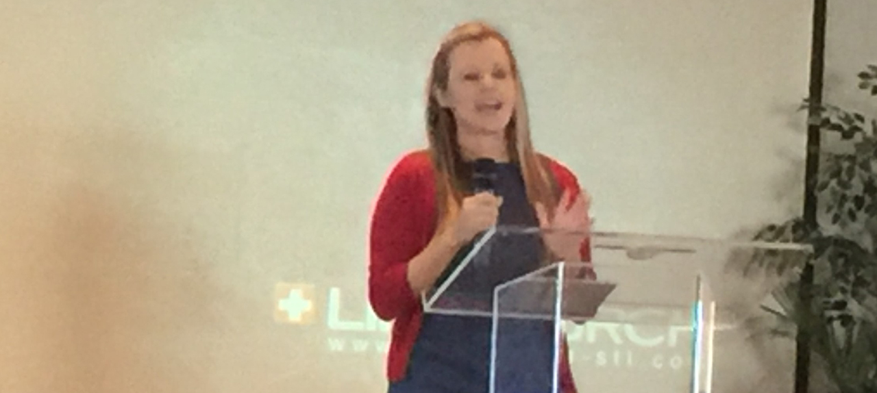 Pastor Kati Heck at LifechurchX, a nondenomenational Christian church in Waterloo, IL