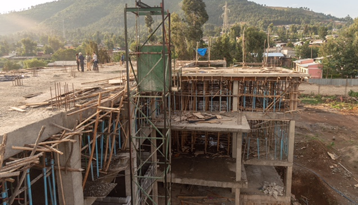 Construction progress of the new girls' home - 2018